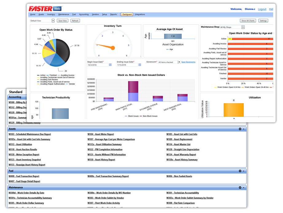 FASTER Web Reporting, BI and Fleet Analytics based on fleet and business best practices